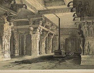 Thomas Colman Dibdin - Sri Ramamswamy temple, Kumbakonam, ca 1847 by T.C.Dibdin.