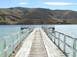 Port Levy settlement on Banks Peninsula, New Zealand