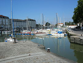 The port in Rochefort