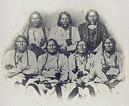 Portrait of Black Kettle or Moke-Tao-To? and Delegation Of Cheyenne and Arapaho Chiefs 28 SEP 1864.jpg