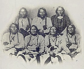 Portrait of Black Kettle or Moke-Tao-To? and Delegation Of Cheyenne and Arapaho Chiefs 28 SEP 1864