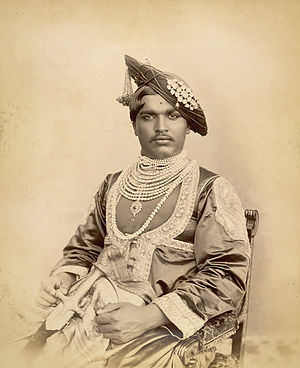 Shahu of Kolhapur - Maharaja of Kolhapur in 1894