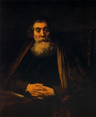 John Amos Comenius - Portrait of an Old Man by Rembrandt, possibly a depiction of Comenius