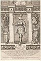 Portret van Rudolf I van Habsburg, Rooms-Duits koning Portretten van leden van het Oostenrijkse Huis (serietitel) Austriacae gentis imaginum (serietitel), RP-P-1961-828.jpg