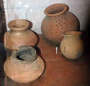 Incense in India - Ancient pot with holes used for burning incense