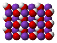 crystal structure of KOH