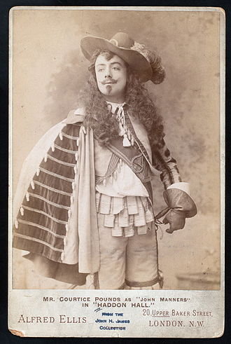 Haddon Hall - Courtice Pounds as John Manners in Haddon Hall, 1892