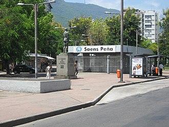 Tijuca - Metro station at Saens Peña Square