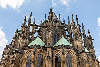 Flamboyant Gothic east end, Prague Cathedral (1344-) Prag, Prager Burg, Veitsdom -- 2019 -- 6662.jpg