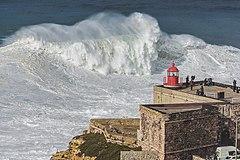 Giant Breaking Waves In Praia Do Norte