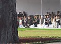 Pranab Mukherjee, the Prime Minister, Dr. Manmohan Singh and the Chairperson, National Advisory Council, Smt. Sonia Gandhi at the Sarva Dharma Prarthana Sabha, at Shakti Sthal, the Samadhi of former Prime Minister.jpg