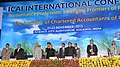Pranab Mukherjee at the inaugural session of the International Conference of Accountancy Profession Emerging Frontiers of Future Growth, organised by the Institute of Chartered Accountants of India.jpg
