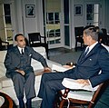 President John F. Kennedy Meets with the Ambassador of Afghanistan, Mohammad Hashim Maiwandwal (02).jpg