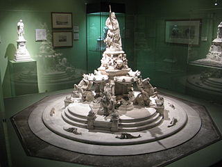 Model for a monumental fountain on place des Quinconces