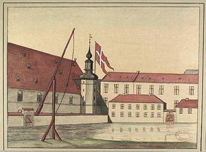 Proviantgården - The Supplies Building in about 1749
