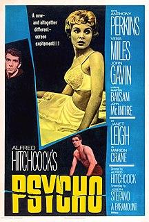 <i>Psycho</i> (1960 film) 1960 film by Alfred Hitchcock