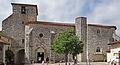 Pujols - Église Saint-Nicolas - Portail, porte nord et clocher.JPG