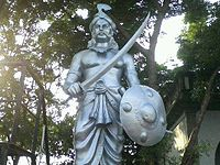 Puli Thevar Statue in his Nerkattumseval Palace 2013-08-12 06-35.jpeg