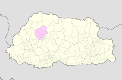 Map of Punakha District in Bhutan