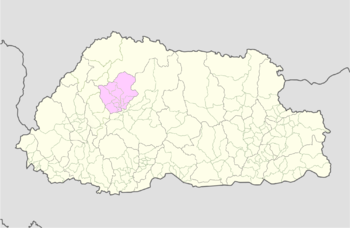 Location of Kabisa Gewog