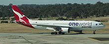 Qantas Airbus A330-200 with Oneworld livery.JPG