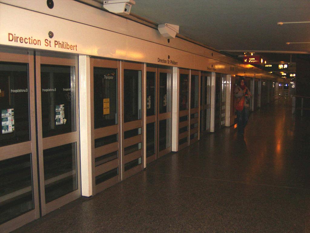 Lille, franciaország, automata metró, VAL