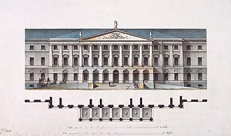 Smolny Institute - Quarenghi's original design for the Smolny Institute (1806).