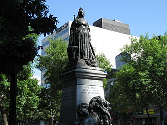 Royal monuments in Canada - Image: Queen Victoria Hamilton