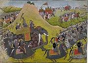 Rāma going into battle