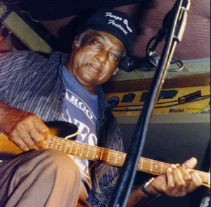 R. L. Burnside - Burnside at the Double Door Inn in Charlotte, N.C., in 1998
