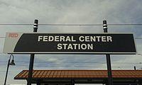 RTD, Federal Center Station sign.jpg