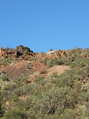 Uranium mining in Australia - Uranium mine at Mt. Gee from the early 20th century