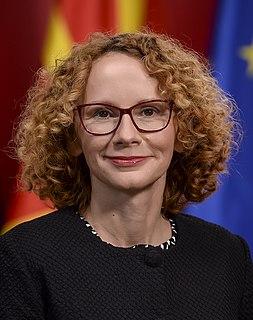 Radmila Šekerinska Macedonian politician