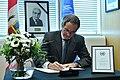 Rafael Mariano Grossi signs Book of Condolences (01313874) (49625518993).jpg