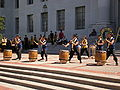 Raijin Taiko performing on Upper Sproul Plaza on Cal Day 2009 1.JPG