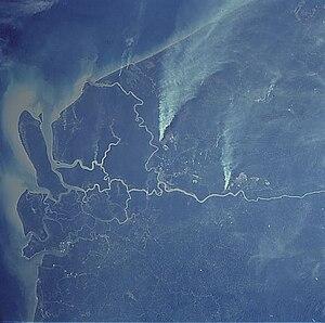 Rajang River - The Rajang delta