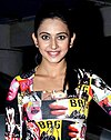 Rakul Preet at Baqar's spinnathon in January 2014.jpg