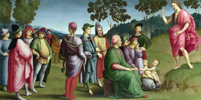 File:Raphael - Saint John the Baptist Preaching.JPG