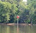 Rappahannock River marker ^44 near Leedstown - panoramio.jpg