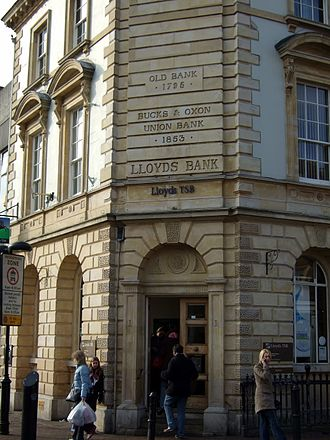 Lloyds Banking Group - The Aylesbury branch of Lloyds Bank, formerly the Bucks and Oxon Union Bank.