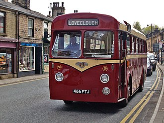 Leyland Tiger Cub - Preserved Rawtenstall Corporation East Lancs bodied Tiger Cub in Ramsbottom in May 2008