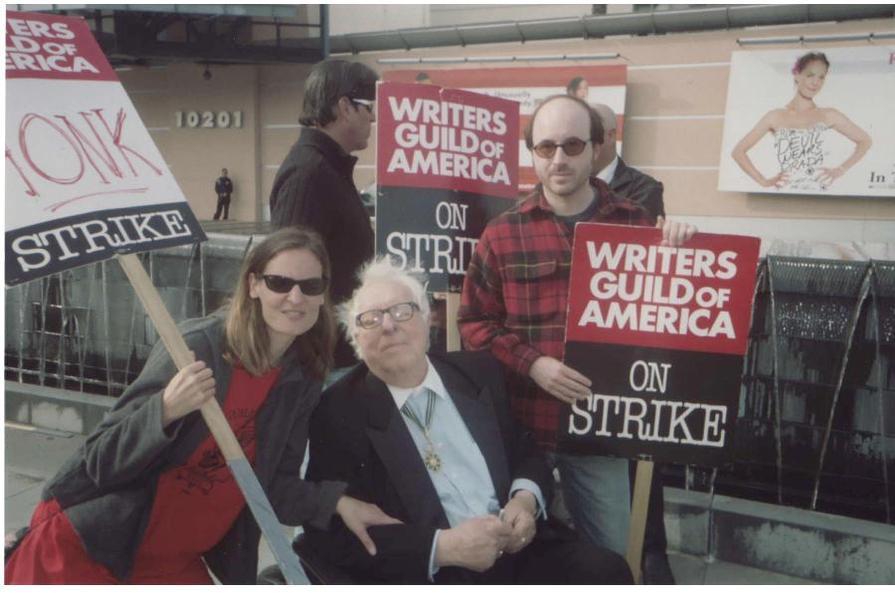 Ray Bradbury with WGA strike members at Fox Studios Jan. 7, 2008.pdf
