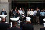 Re-enlistment ceremony at Ground Zero 110907-M-KZ372-007.jpg
