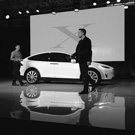 Elon Musk delivering one of the first six Model X Founders Series models - Tesla Motors