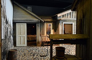 Shtetl - A reconstruction of a traditional Jewish shtetl in the South African Jewish Museum in Cape Town as it would have appeared in Lithuania.