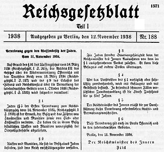 Gun legislation in Germany - Nazi law to disarm Jews
