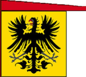 Flags of the Holy Roman Empire - Image: Reichssturmfahne mit Wimpel gold 2