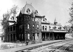 The Relay Hotel, once located at the Thomas Viaduct on Railroad Avenue