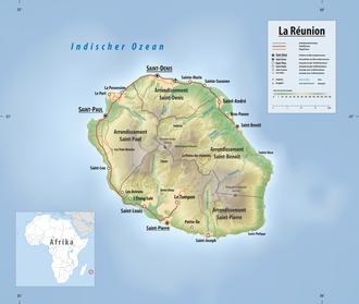 Karte Réunions