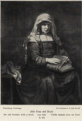 An Old Woman with a Book